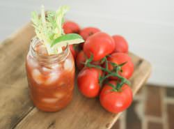 The best darn bloody mary recipe on our new screen porch with Backyard Farms!
