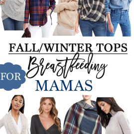 Fall and Winter Tops for Breastfeeding Mamas