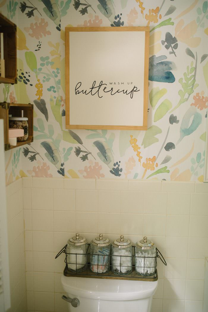 This life and style blogger shows you a kids bathroom refresh on a budget! Low on money? No problem! This bathroom makeover only cost about $400!