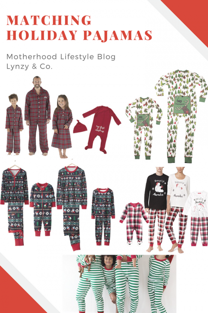 Matching Family Christmas Pajamas // Looking for matching family pajamas for the holiday season this year? Look no further! Lynzy & Co. rounds up the cutest sets in this blog post!