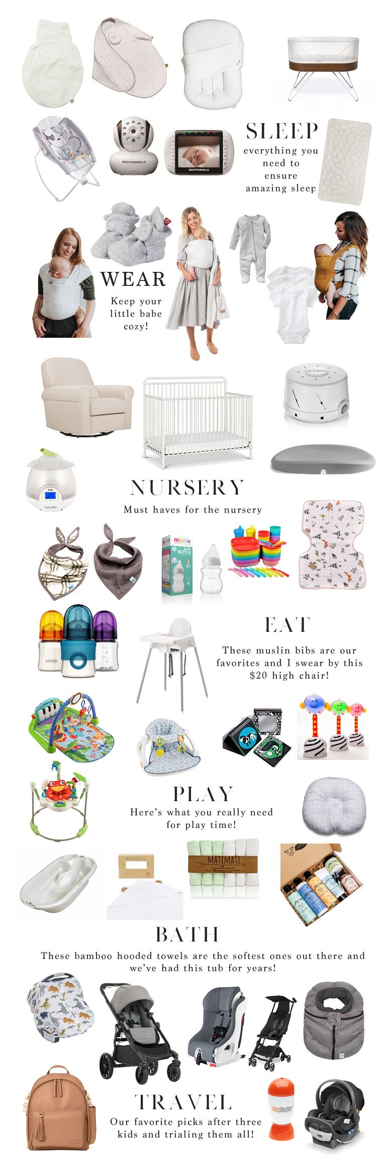 40 baby registry must haves lynzy co. Black Bedroom Furniture Sets. Home Design Ideas