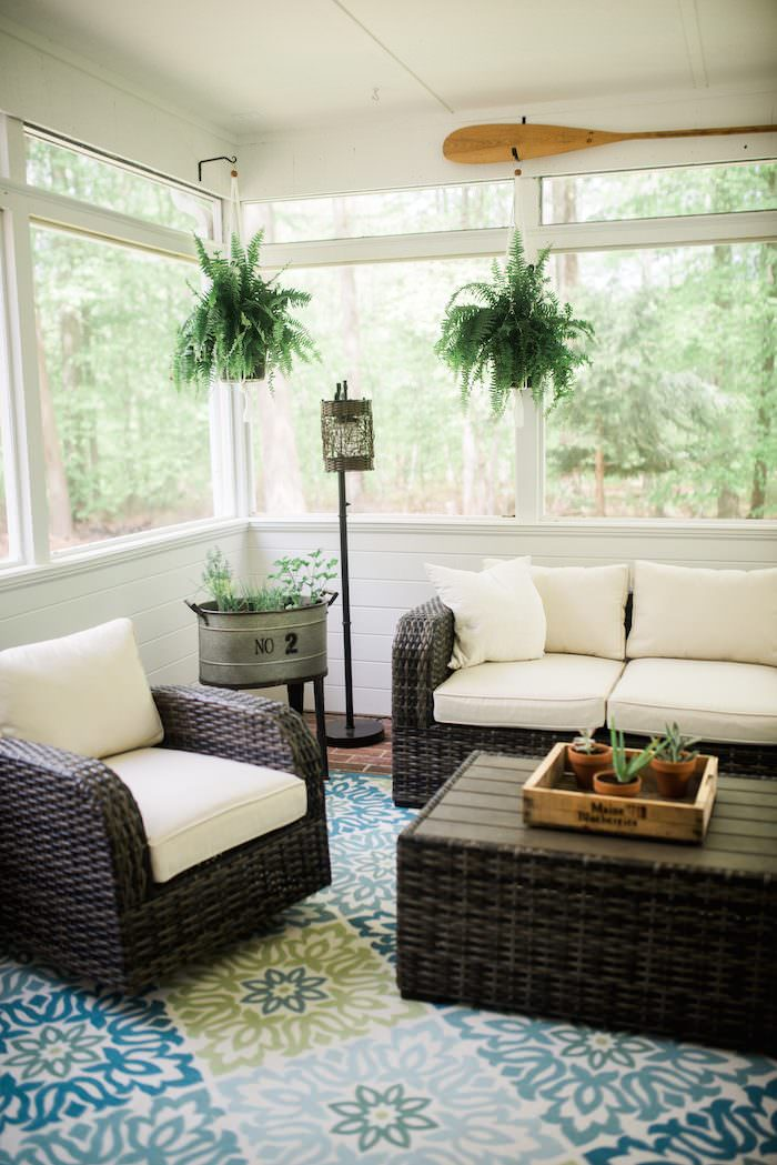 Screen Porch Makeover With Raymor Flanigan The Before After Images Along