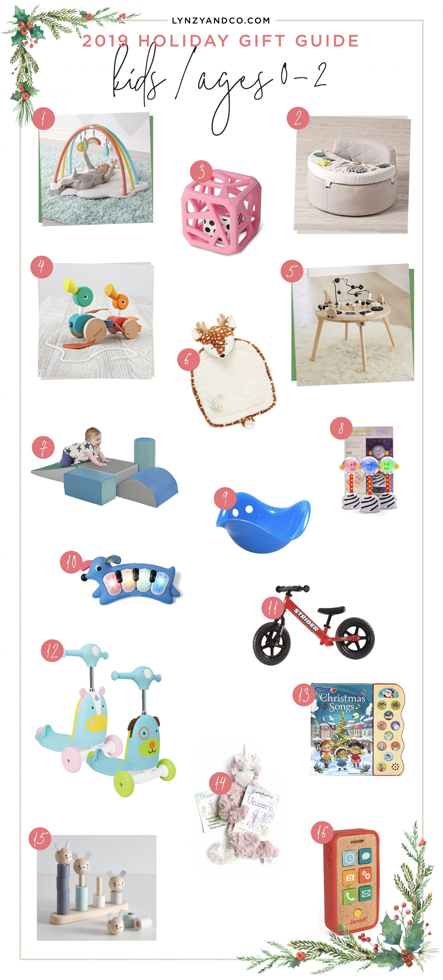 Kid Holiday Gift Guide 0 2 Years Old Lynzy Co